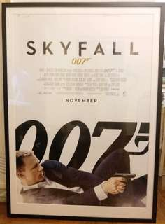 James Bond 007 Skyfall movie poster with frame 占士邦007電影海報連畫框