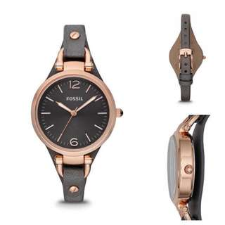 Fossil Women Georgia Rose Gold-Tone Stainless Steel Watch