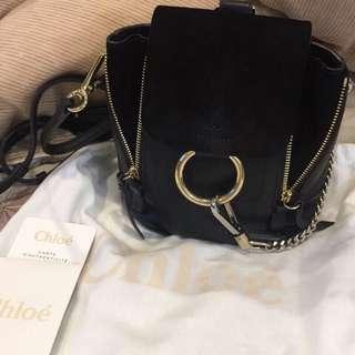 🚚 Chloe Faye mini backpack black