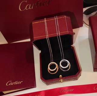Cartier 1:1 925 頸鏈 項鏈 鑽 2色入