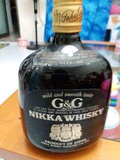 罕有老日威,余市酒廠出品,NIKKA G&G 威士忌760ml, no box.