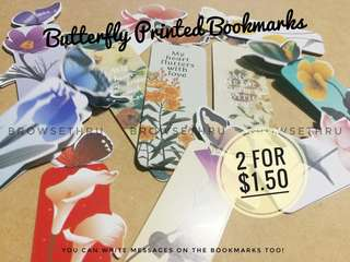 Lovely Butterfly Printed Bookmark
