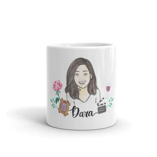 Custom portrait design mug