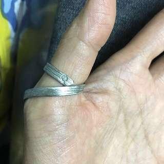 Mac look型格純銀母指環