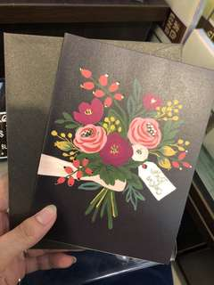 Floral gift card-best wishes