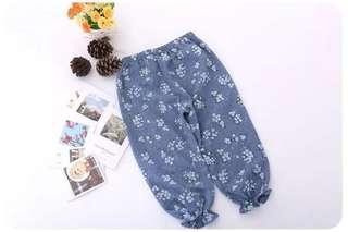 Girls Flowery Bloomer Pants