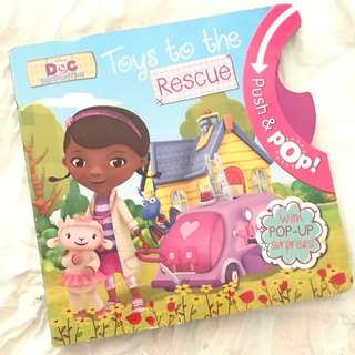 Disney Doc McStuffins Toys to the Rescue Book Push & Pop Children's Book