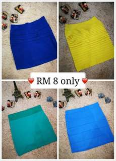 Lady skirts from RM 8