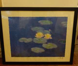 莫內油畫 Monet Painting with photo frame
