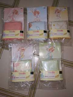 [All 5 $18] Cardcaptor Sakura: Clear Card Arc ~Twinkle Colour Collection~ Ichiban Kuji - Prize F Hand Towel ×5 (Complete Set)