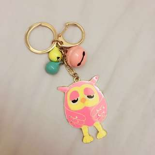 Keychain - Owl with bells
