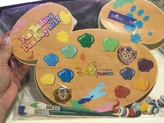 HKDL 香港迪士尼樂園 2017 年 Pin Trading Fun Day 徽章 Duffy ShellieMay Disney