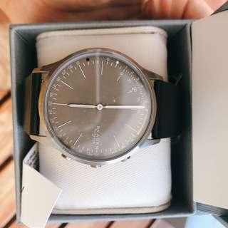 美國現貨🇺🇸 全新Skagen 黑皮帶 Hybrid Smart Watch 智能手錶