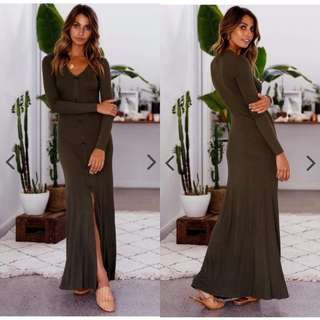 Longsleeves Button Maxi