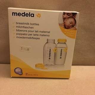 Brand new breast milk storage bottles