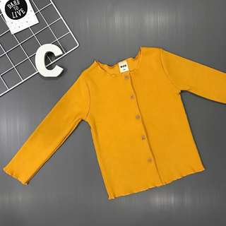 GOOD QUALITY Kids Girl Mustard Cardigan