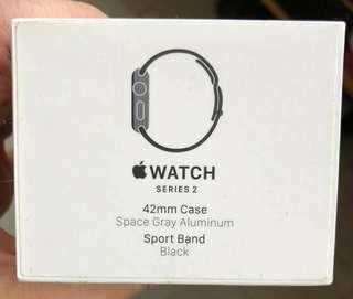 i watch series 2    42mm  啞黑