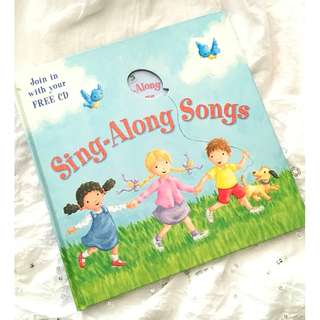 Sing-Along Songs with Free CD inside Children's book Nursery Rhymes Book