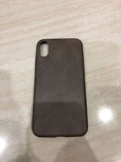 Casing Iphone X Retro Design PU Leather Pattern