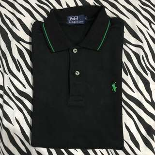 Polo shirt polo by ralph lauren hitam green sz l original