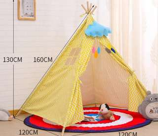 (Choose - 9 Designs) (PO) BN 130cm / 160cm Kids' Indian Indie Teepee Play House Canopy Tent