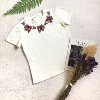 🆕Embroidered Floral Tee