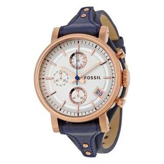 Fossil Ladies' Original Boyfriend Blue Chronograph Watch