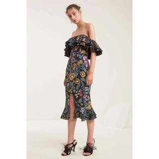 Offs Floral Slit Dress