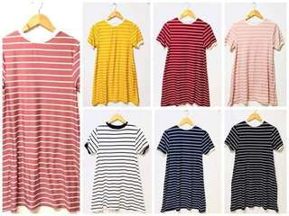 Stripes t-shirt dress 😍