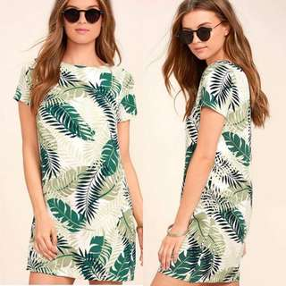 Leaves Tee Dress