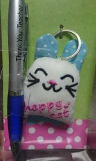 Teachers' day pen and keychain