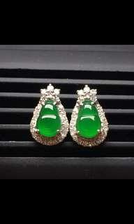 A玉18K金鑲嵌耳環Jade Earrings