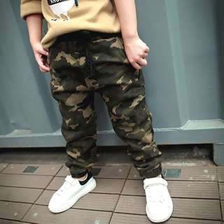 Kids Boys Army / Camouflage Jogger Long Pants Trouser