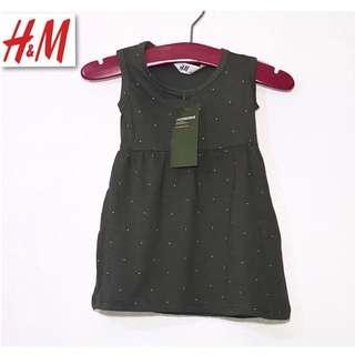 H&M Kids Jersey Dress Tiny Polka Dot Pattern PK5