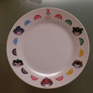 奧運福娃陶瓷碟(珍藏限量版)