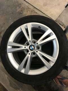 "BMW Original Stock 17"" inch Rims & Tyre"