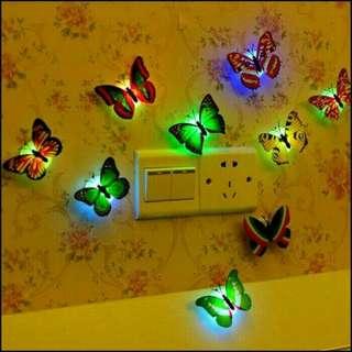 Lampu dinding model Kupu kupu