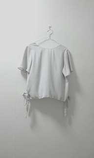 White Side Ribbon Top