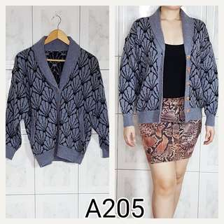 Blue Knitted Cardigan A205