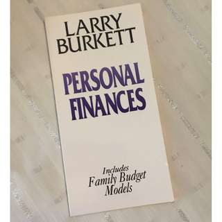 Personal Finance by Larry Burkett Christian Book