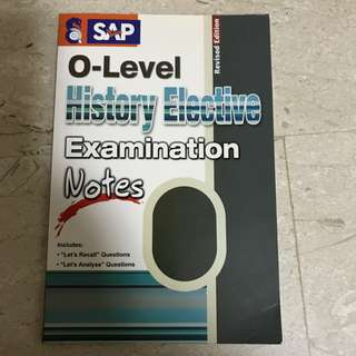 'O' Level History Elective Exams Notes