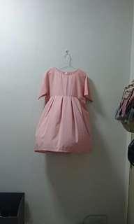 Pink Oversized Babydoll Dress