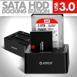 BNIB ORICO 6629US3-C Dual Bay USB 3.0 SATA Hard Drive Dock