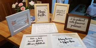 Islamic Quotes in Shabby Chic Frame