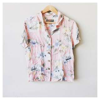 Floral button down shirt