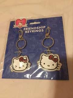 Hello Kitty Friendship 鎖匙扣 一對(size:大過5蚊硬幣)