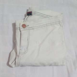 White high waisted pants