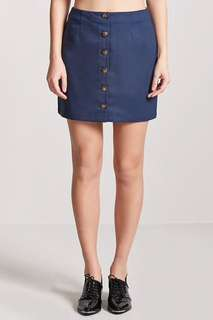 Forever 21 Button-Front Skirt