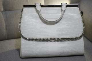 Charles and Keith White and Silver Bag