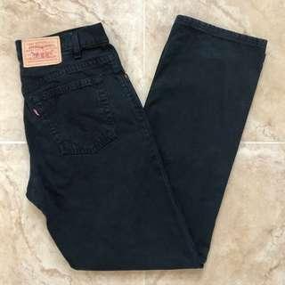 Levi's High-Rise Black Mom Jeans